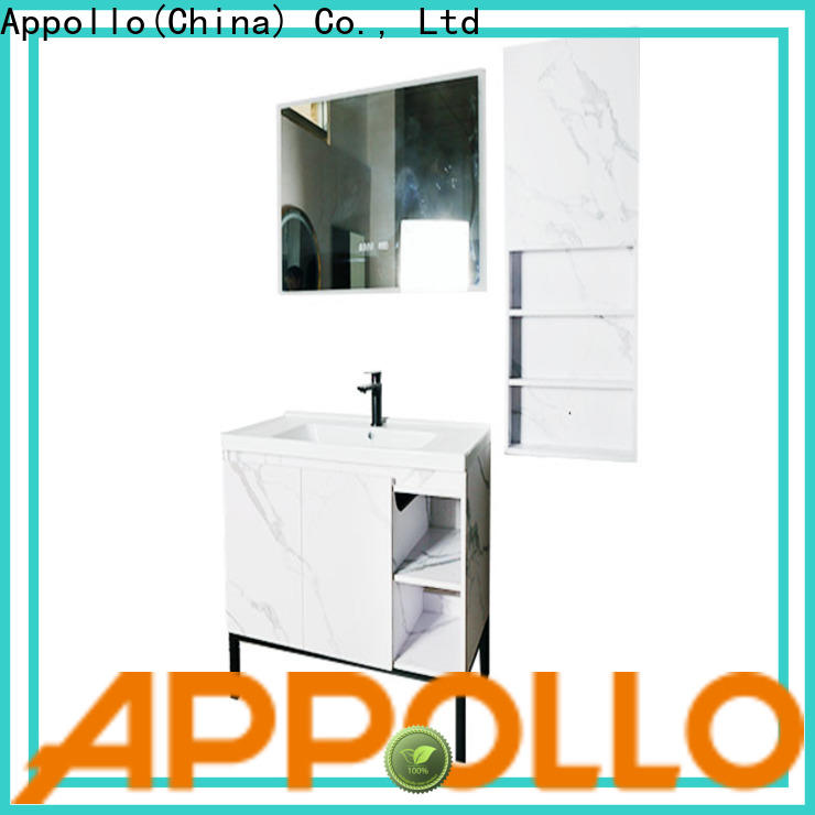 Appollo led wooden bathroom cabinets factory for restaurants