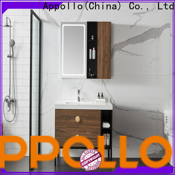Appollo wholesale custom bathroom cabinets manufacturers for resorts