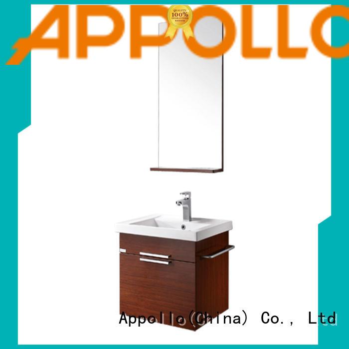 Appollo basin white bathroom cabinet suppliers for home use