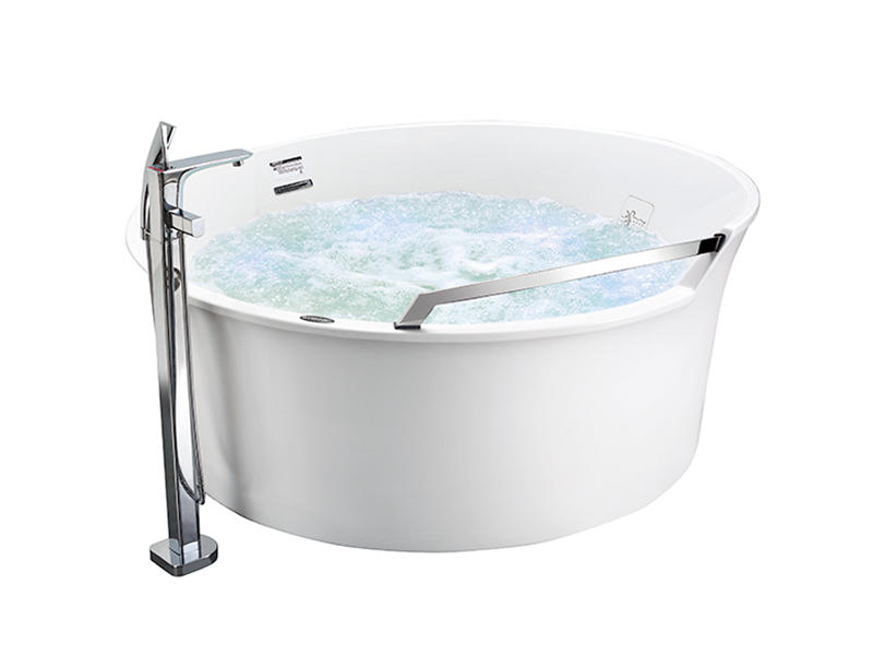 White Freestanding Round Bath Tubs At-9086