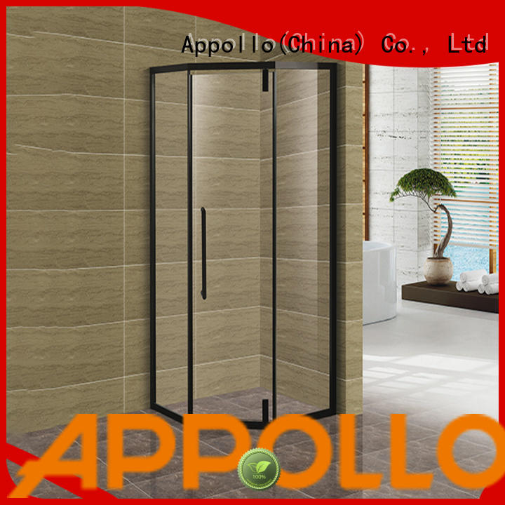 Appollo custom curved shower enclosure suppliers for bathroom
