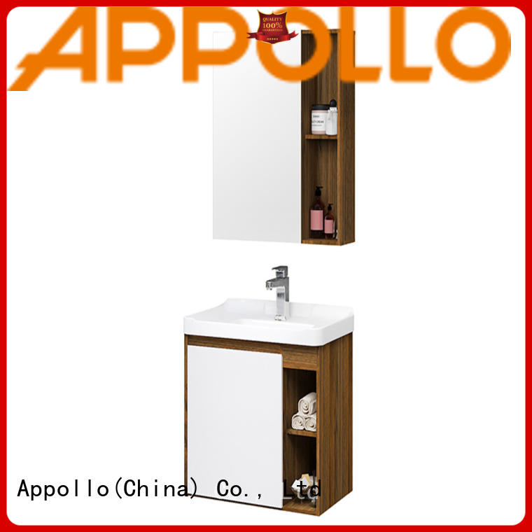 Appollo wholesale small bathroom cabinet company for family