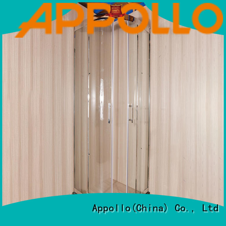 Appollo latest frameless bathtub enclosures factory for bathroom
