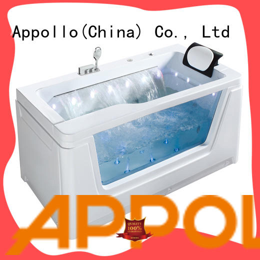 Appollo white freestanding air jet bathtub company for hotel