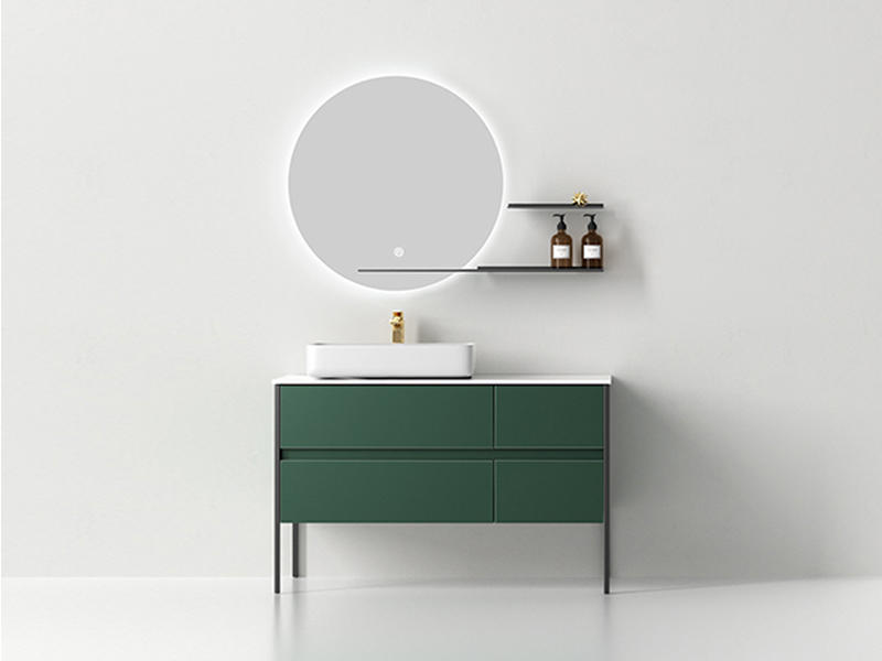 Equisite Wooden Bathroom Cabinets With Dark Green Color AF-1833