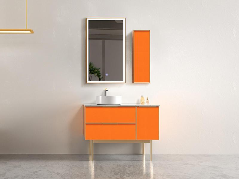 Hermes Orange Bathroom Toilet Cabinet With Smart Lighting AF-1835