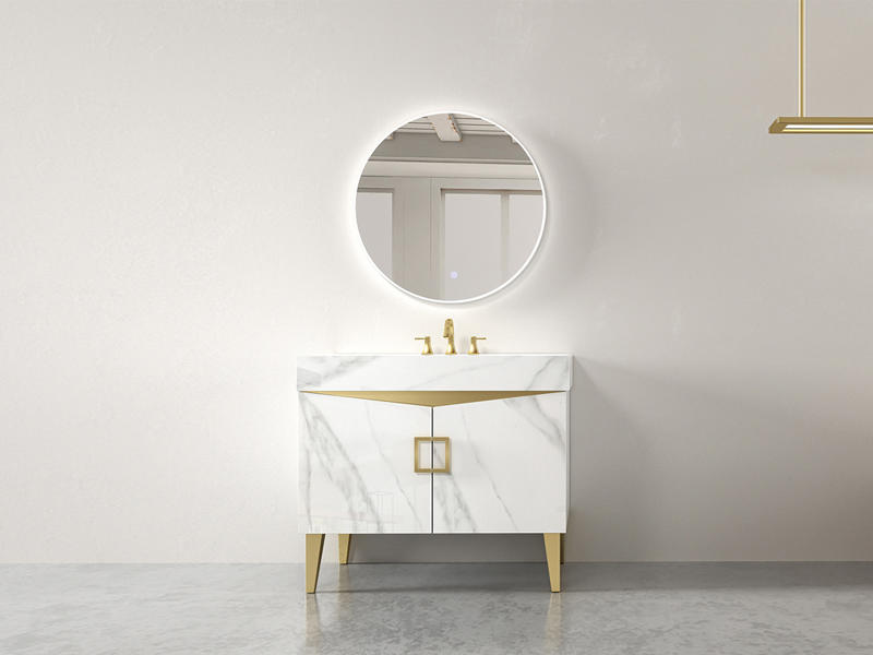 Freestanding Bathroom Cabinet Set With Mirrow And Sinks AF-1839