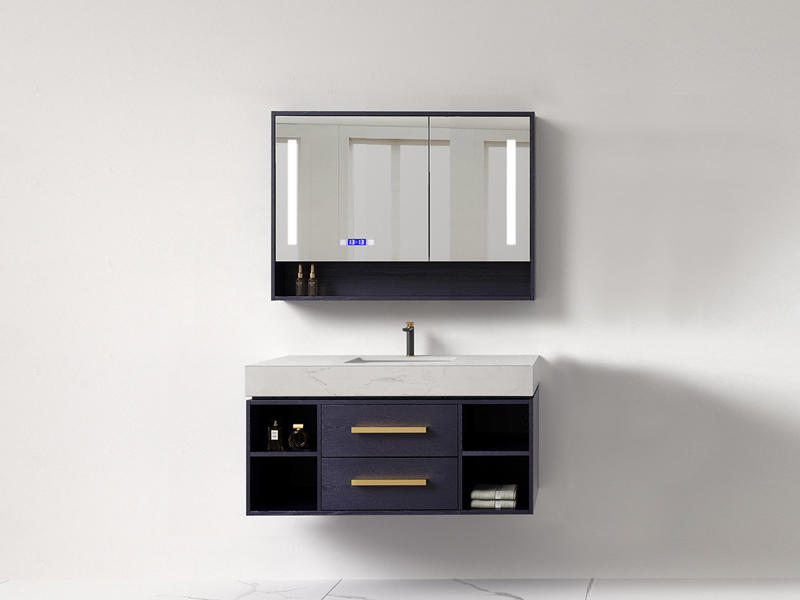 Wall mounted bathroom cabinet with smart LED light AF-1850
