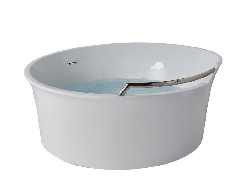 Round bubble massage bathtub with LED colorful lighting AT-9086
