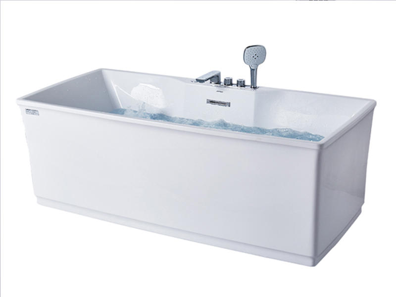 Whirlpool massage bathtub with LED colorful lighting AT-9078