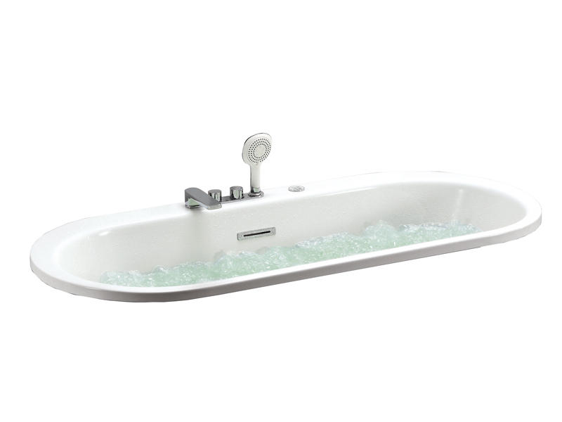 Super powerful bubble massage bathtub with water lights AT-9048Q