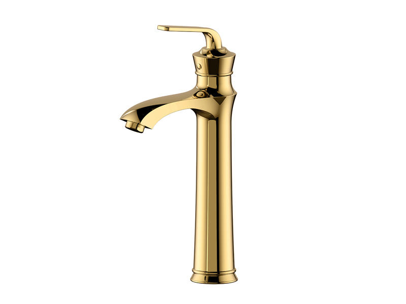 Golden high end restroom faucet ,luxurious and fashion AS-2035KG