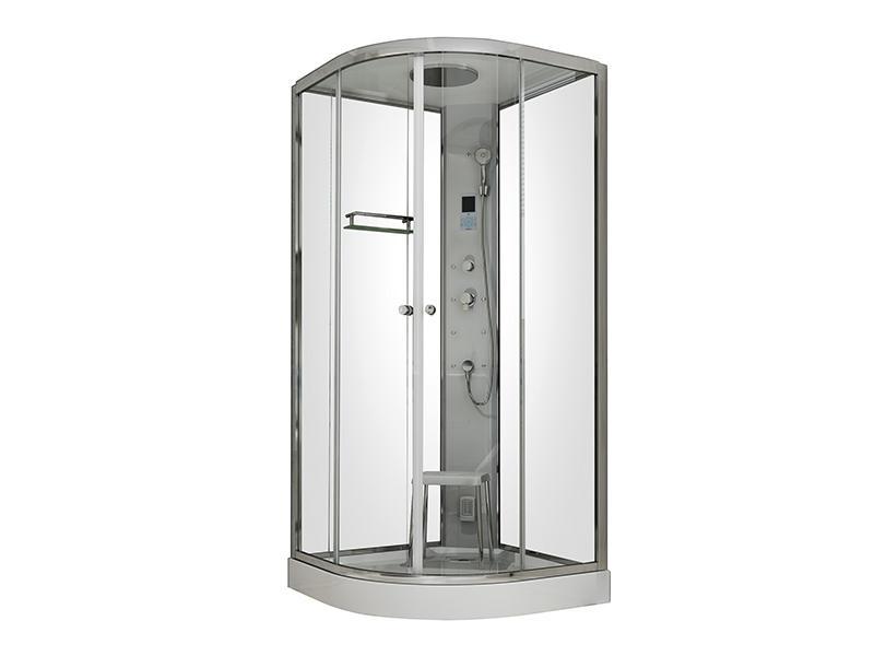 Quadrant steam shower cabin,corner steam shower with seat A-8066