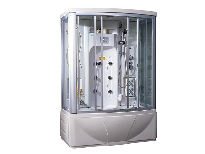 Enclosed shower cabin with steam sauna A-0828