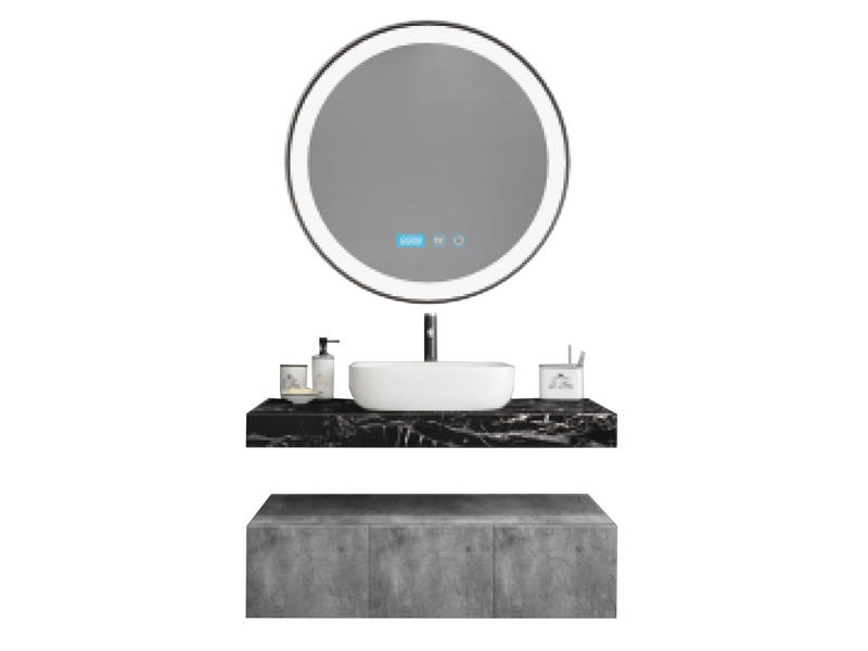Fitted bathroom furniture with LED mirror AF-1813