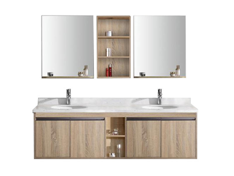 Luxurious and large-sized bathroom furniture with cabinets AF-1817