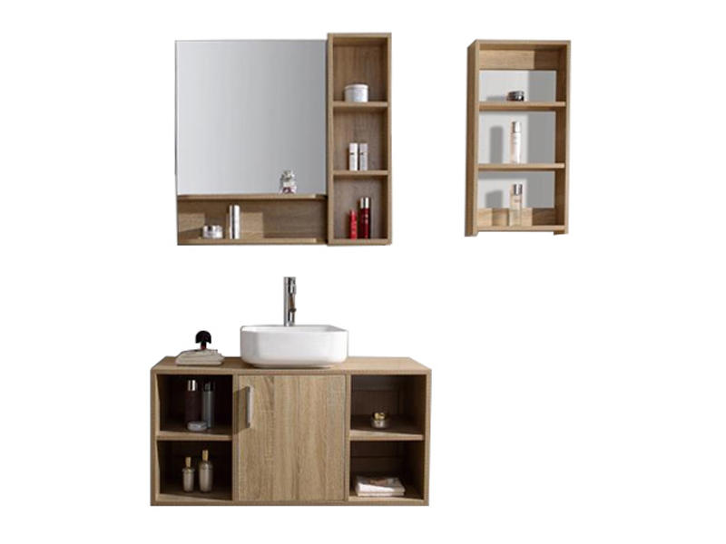 Floor standing bathroom sink cabinet with mirror AF-1818