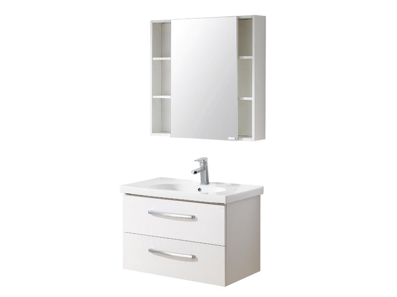 Bathroom drawer cabinet with white color UV-3892