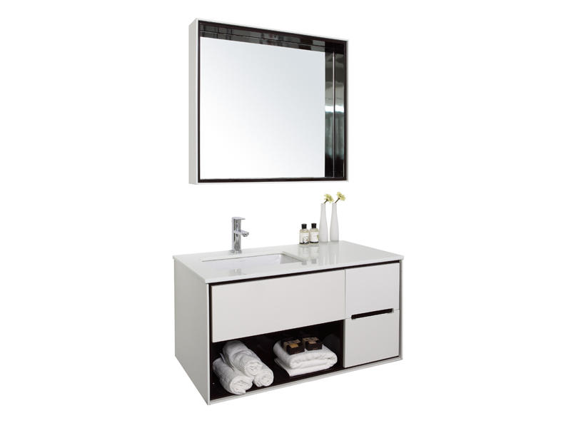 Hot sale white bathroom cabinet set with mirror UV-3926