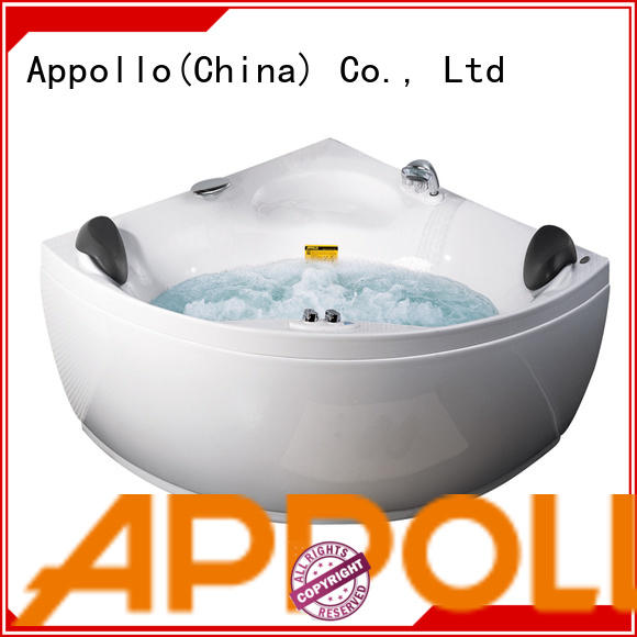 Appollo round soaker tub with jets for family