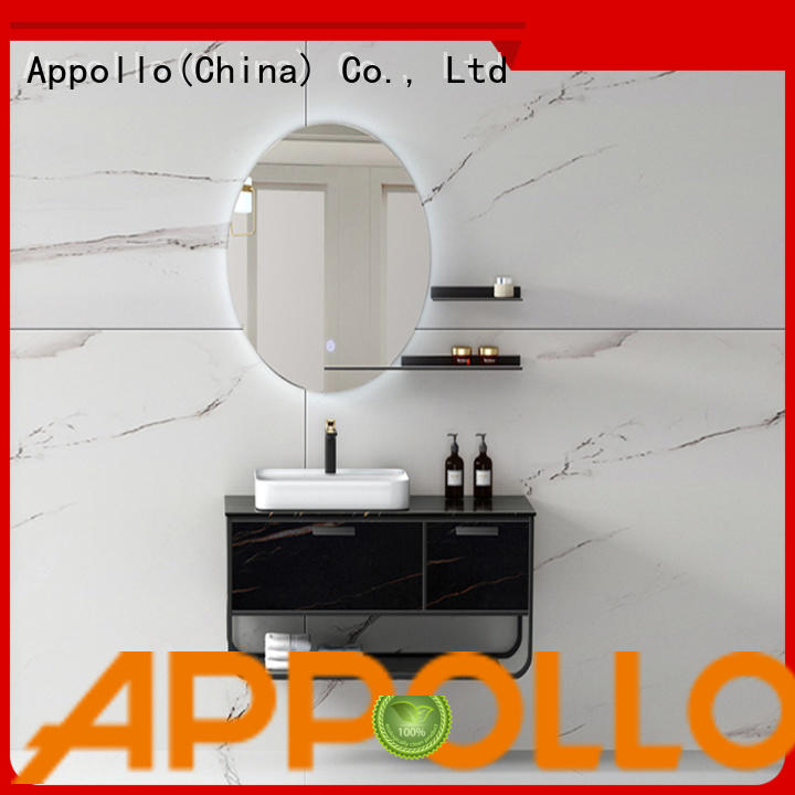 Appollo basin tall white bathroom cabinet suppliers for bathroom