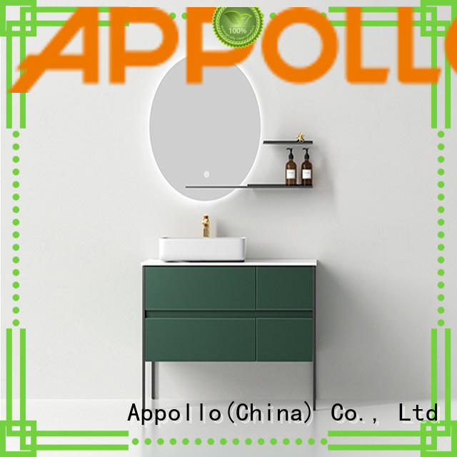 Appollo exquisite bathroom cabinet manufacturers factory for family