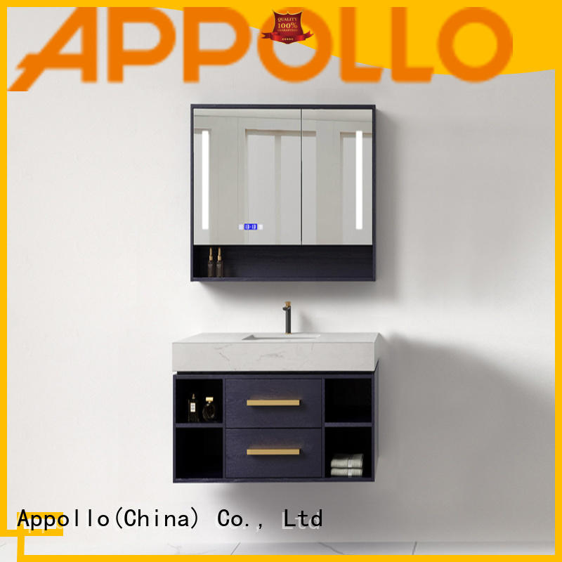 Appollo new glass bathroom cabinet suppliers for bathroom