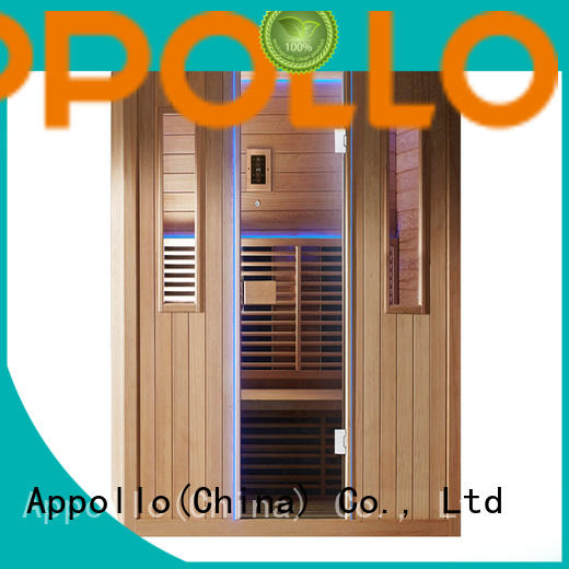 Appollo top outdoor infrared sauna suppliers for 2-3 person
