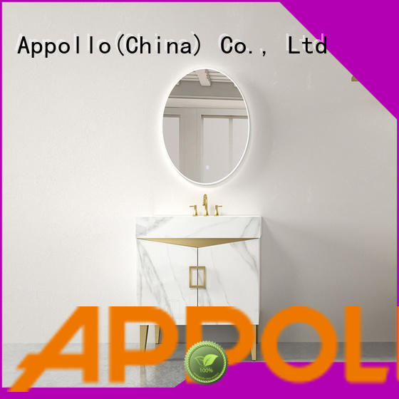 Appollo mirror free standing bathroom cabinets factory for family