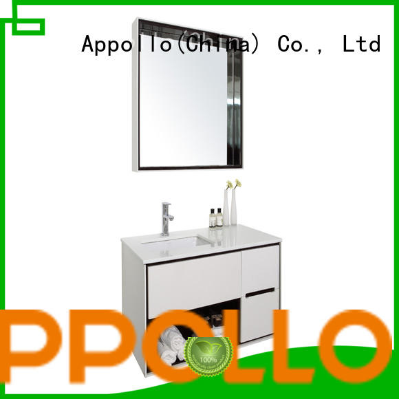 Appollo quality bathroom drawer cabinet factory for family