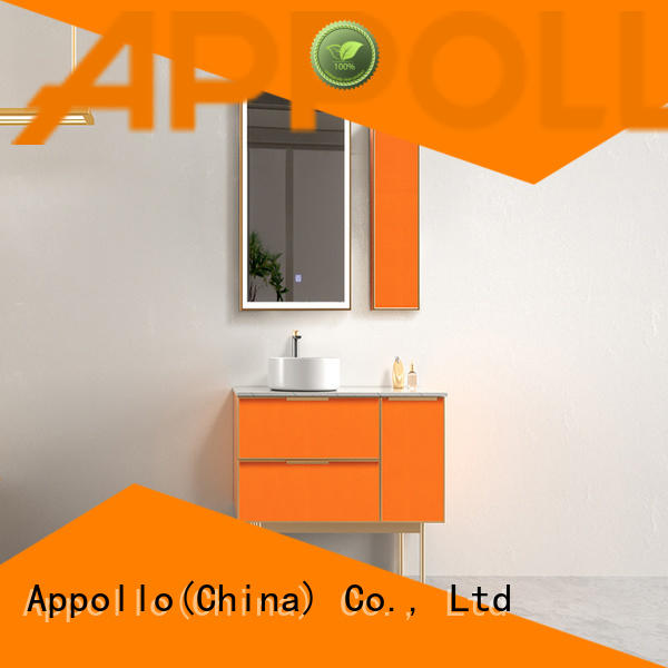 Appollo new wall mounted bathroom cabinet suppliers for home use
