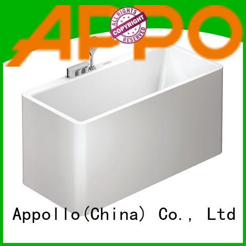 Appollo comfortable acrylic freestanding bathtub factory for restaurants